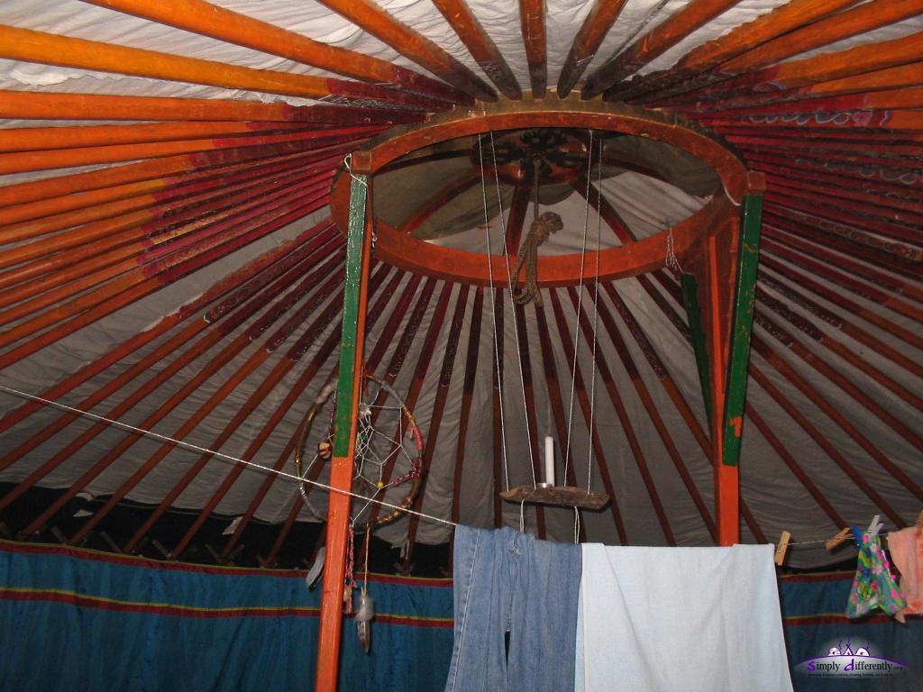 Крыша юрты изнутри