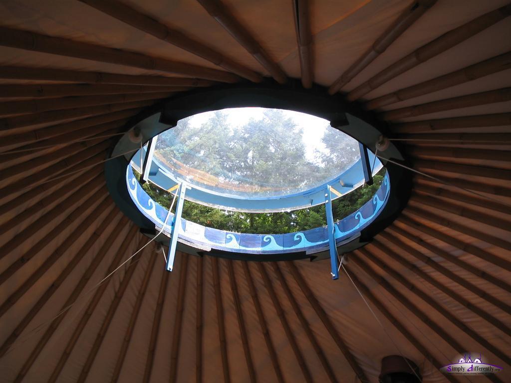Верхнее окно юрты