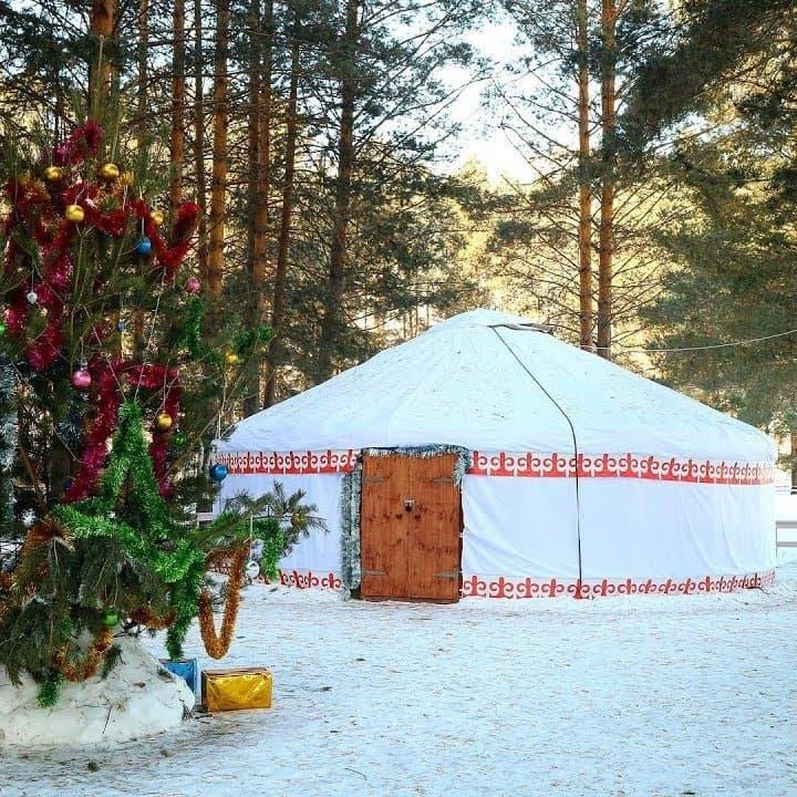 Открытие гостевой юрты Деда Мороза в «Абзаково»