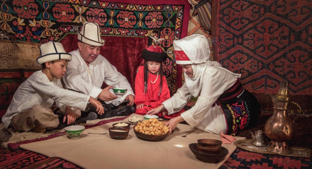 В Кыргызской юрте