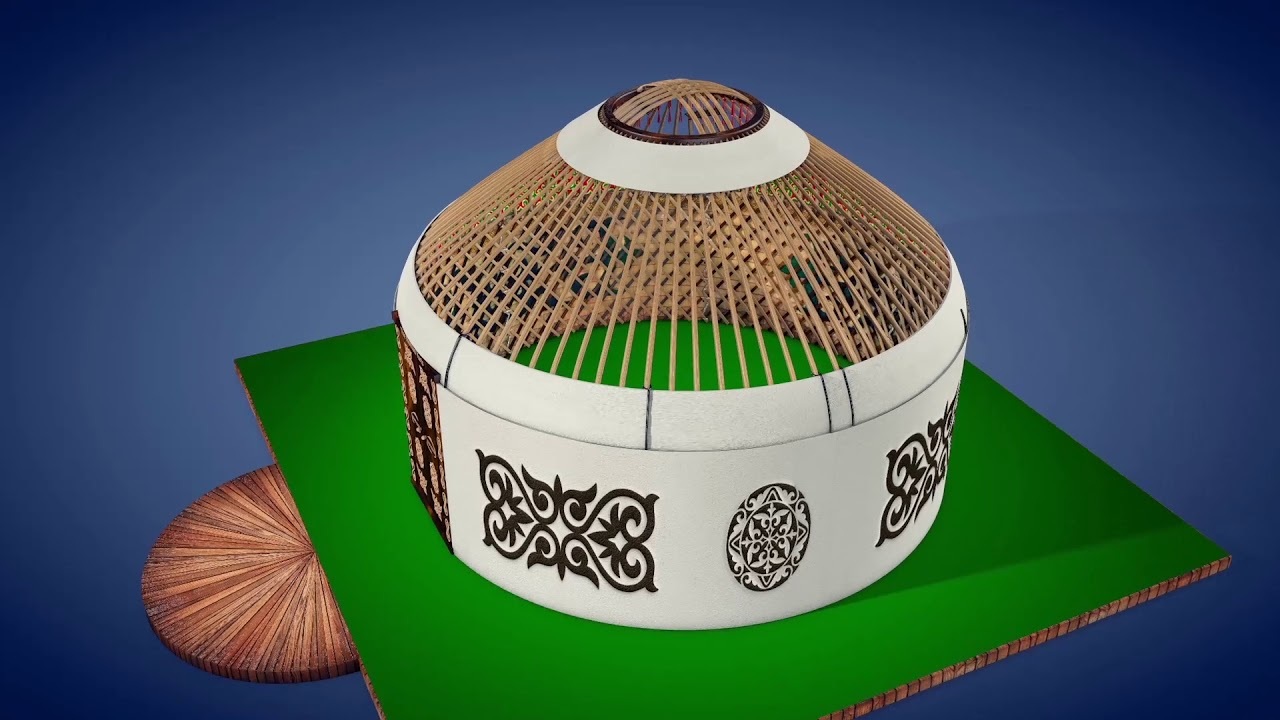 3D модель юрты кочевника