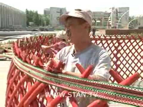 Изготовление кыргызской юрты