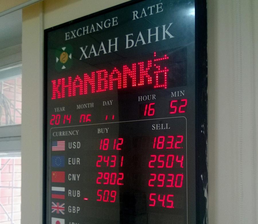 Обменный курс тугрика