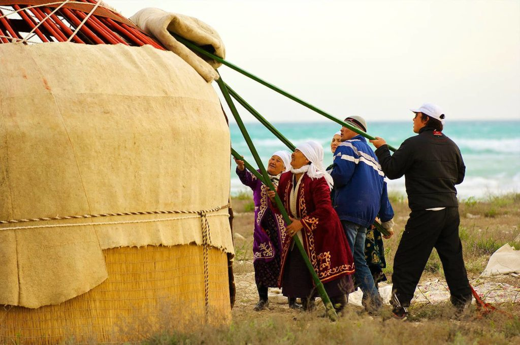 Сборка Казахской юрты