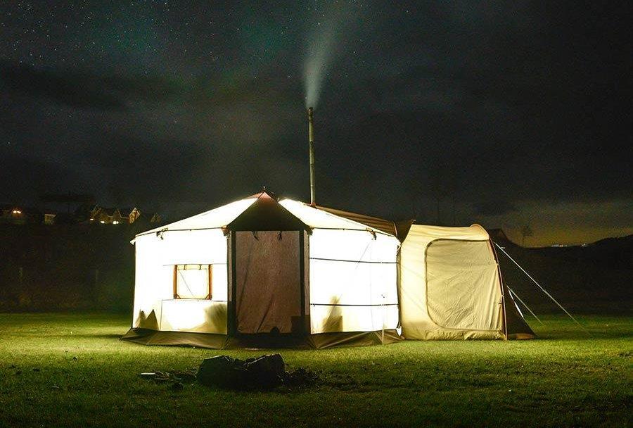 6-8 местная монгольская палатка юрта GerTent со всеми удобствами