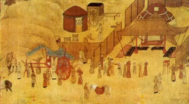 Сцена из жизни киданей. Из китайского свитка 13 в
