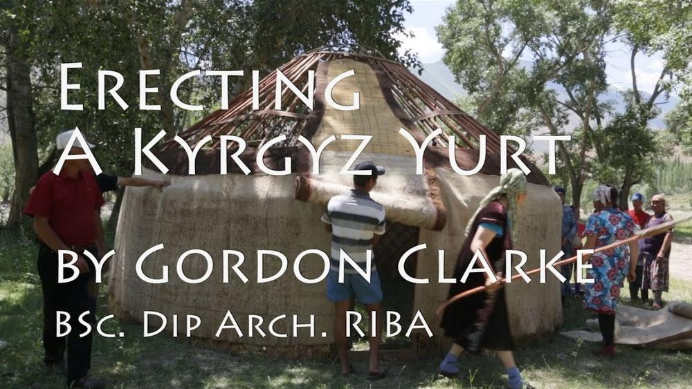 Сборка юрты в Кыргызстане