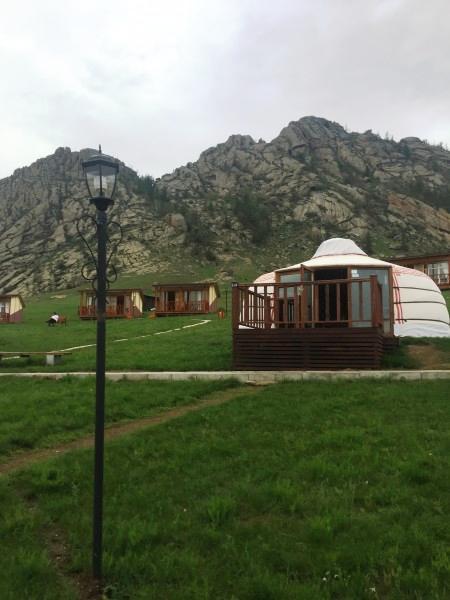 Юрта на тур базе в Монголии