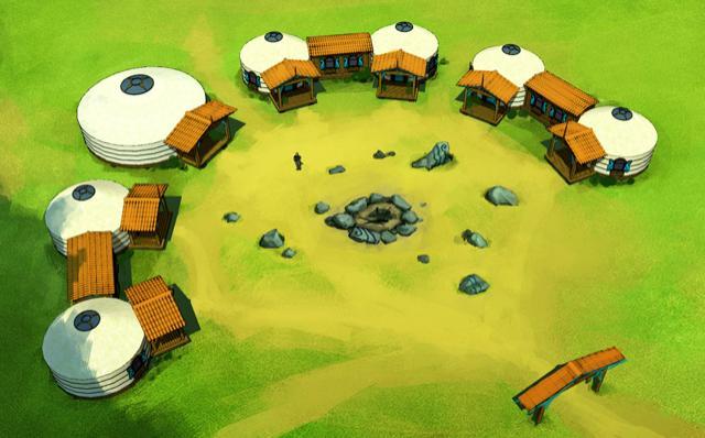 Строим юртовый детский лагерь Ч.4