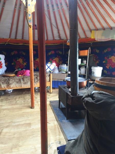 Жилая юрта в Монголии