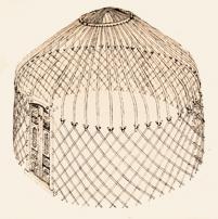 Юрта с прямой крышей