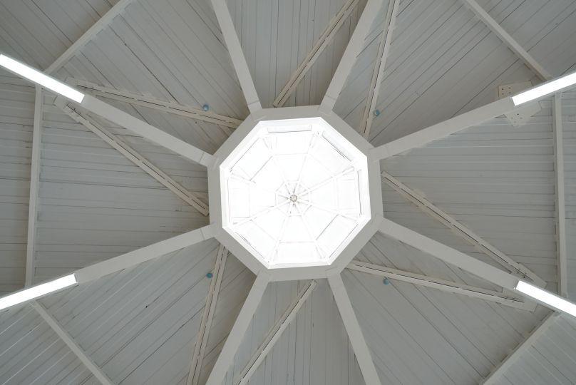 Крыша юрты спортзала