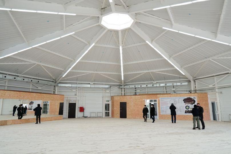 Юрта - спортзал внутри