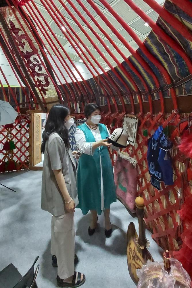 Кыргызская юрта в Корее